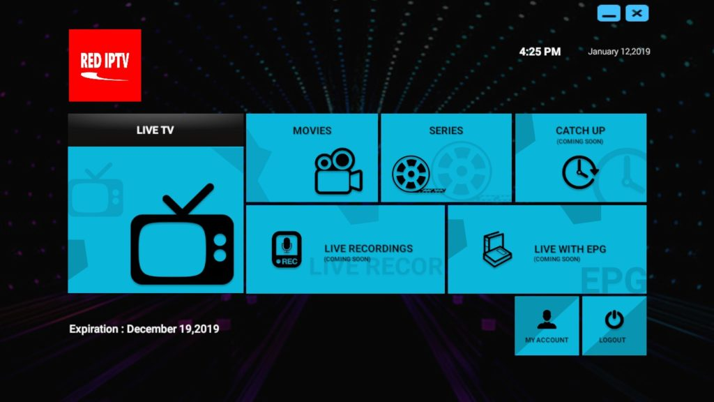 RED iPTV PC Uygulaması