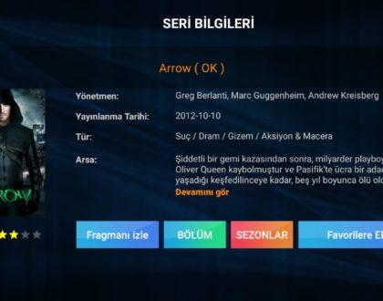 Arrow Dizisi Tüm Sezon ve Bölümleri TR Dublaj Olarak Eklenmiştir.