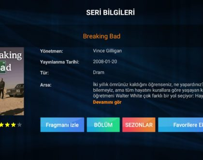 Breaking Bad Tüm Sezon ve Bölümleri iPTV Sistemlerimize Eklenmiştir.